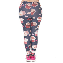 Load image into Gallery viewer, Muffin Printing Plus Size Women Leggings