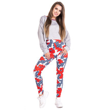 Load image into Gallery viewer, Camo Usa Flag Imitate Jeans Printing High Waist Women Leggings