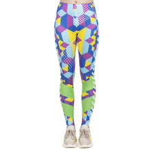 Load image into Gallery viewer, Fluorescent Geo Cubic Printing High Waist Women Leggings
