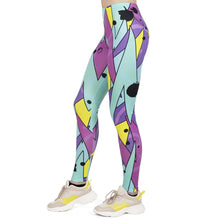 Load image into Gallery viewer, Fluorescent Neo Jazz Printing High Waist Women Leggings