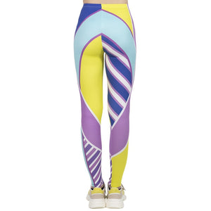 Fluorescent Printing High Waist Women Leggings