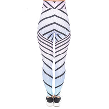 Load image into Gallery viewer, Zig Zag Ombre Printing High Waist Women Leggings