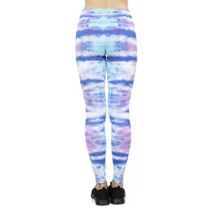 Dark Cyan Surf Printing High Waist Women Leggings