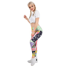 Load image into Gallery viewer, Patchwork Floral Printing High Waist Women Leggings