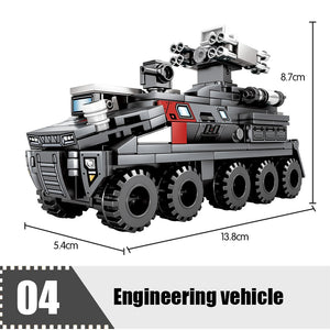 Military Multi Cargo Transport Truck Vehicle Building Blocks Toy 966 pcs + 4 dolls