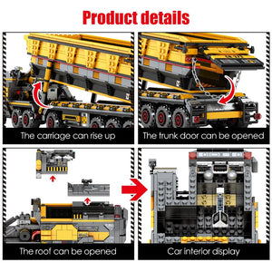 Military Tank Cargo Carrier Model 2 Building Blocks Toy 1535 pcs + 6 dolls