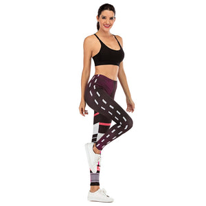 Dots stitching Printing High Waist Women Leggings