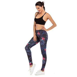 Night flowers Printing High Waist Women Leggings