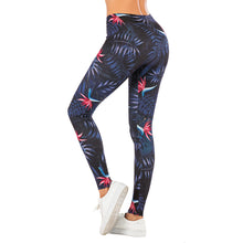 Load image into Gallery viewer, Night flowers Printing High Waist Women Leggings