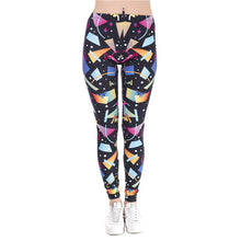 Load image into Gallery viewer, Retro Geometric Printing High Waist Women Leggings