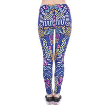 Load image into Gallery viewer, African Zig Zag Purple Printing High Waist Women Leggings