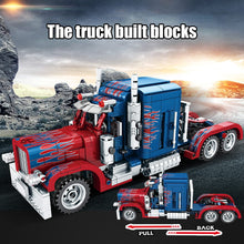 Load image into Gallery viewer, Pull Back Classic Peterbilt Heavy Container Truck Building Blocks Technic Toy 849 pcs