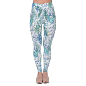 Monstera Jungle Printing High Waist Women Leggings