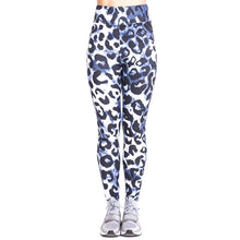 Load image into Gallery viewer, Leopard imitate Jeans Printing High Waist Women Leggings