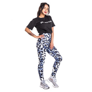 Leopard imitate Jeans Printing High Waist Women Leggings