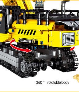 City Engineering Crane Building Blocks Construction Toy 665 pcs + 3 dolls