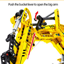 Load image into Gallery viewer, City Engineering Excavator Building Blocks Construction Toys 841 pcs + 3 dolls