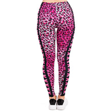Load image into Gallery viewer, Pink Leopard Printing High Waist Women Leggings