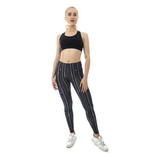Moonlight Walk Printing High Waist Women Leggings