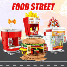 Load image into Gallery viewer, Hamburger Shop Food Store Buildings Blocks Toy 209 pcs + 2 dolls