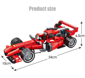 Pull Back Extreme Speed Super Racing Car Building Blocks Toy Model 1 310 pcs