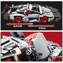 Load image into Gallery viewer, Pull Back Extreme Speed Super Racing Car Building Blocks Toy Model 2 369 pcs + 1 doll