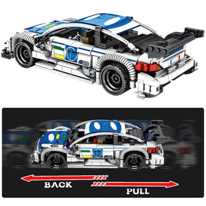 Pull Back Extreme Speed Super Racing Car Building Blocks Toy Model 6 632 pcs