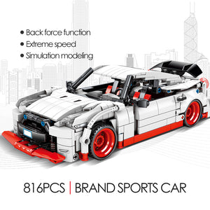 Pull Back Extreme Speed Super Racing Car Building Blocks Toy Model 7 816 pcs