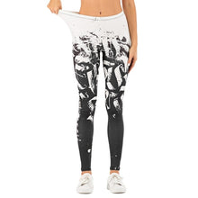 Load image into Gallery viewer, White Paint Printing High Waist Women Leggings