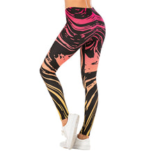 Load image into Gallery viewer, Gradient Streak Printing High Waist Women Leggings