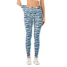 Load image into Gallery viewer, Casual Blue Streak Printing High Waist Women Leggings