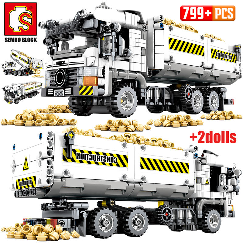 Vehicle Truck Building Blocks Toy 799 pcs + 2 dolls