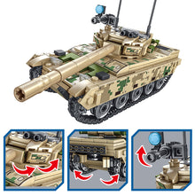 Load image into Gallery viewer, Military WW2 Tank Model 3 Building Blocks Toy + 2 dolls