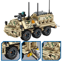 Load image into Gallery viewer, Military WW2 Tank Model 1 Building Blocks Toy + 2 dolls
