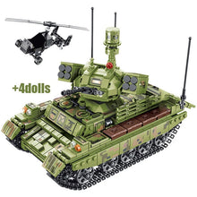 Load image into Gallery viewer, Military WW2 Tank Model 2 Building Blocks Toy + 4 dolls