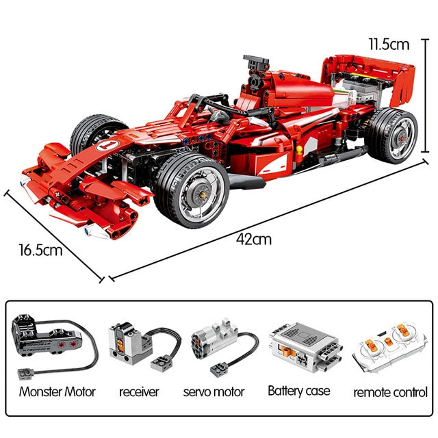 Remote Control F1 Racing Car Building Blocks Toy 585 pcs