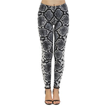 Load image into Gallery viewer, Silver Snake Skin Printing High Waist Women Leggings