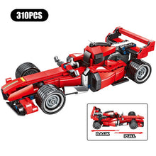 Load image into Gallery viewer, Pull Back Extreme Speed Super Racing Car Building Blocks Toy Model 1 310 pcs