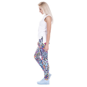 Wild Dots Printing High Waist Women Leggings