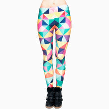 Load image into Gallery viewer, Triangles Color Printing High Waist Women Leggings