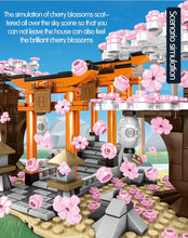 Load image into Gallery viewer, Sakura Street View Cherry Blossom Inari Shrine Building Blocks Toy 647 pcs + 3 dolls