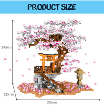 Load image into Gallery viewer, Sakura Street View Cherry Blossom Tree House Building Blocks Toy 1167 pcs + 3 dolls