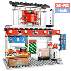 Food Store Model 1 Building Blocks Toy 341 pcs + 3 dolls