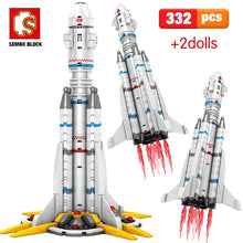 Load image into Gallery viewer, Carrier Launch Rocket Building Blocks Toy 322 pcs + 2 dolls