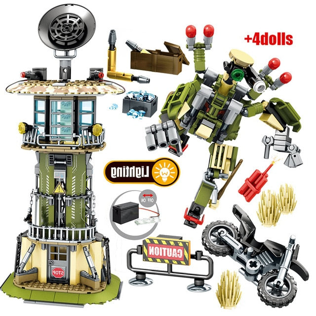 Military SWAT Team WW2 Model 1 Building Blocks Bricks Toy 651 pcs + 4 dolls