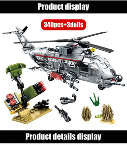 Military SWAT Team WW2 Model 5 Building Blocks Bricks Toy 340 pcs + 3 dolls