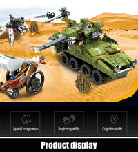 Load image into Gallery viewer, Military SWAT Team WW2 Model 3 Building Blocks Bricks Toy 438 pcs + 3 dolls