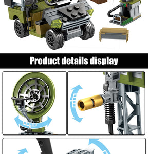 Military SWAT Team WW2 Model 7 Building Blocks Bricks Toy 481 pcs + 4 dolls