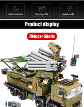 Load image into Gallery viewer, Military SWAT Team WW2 Model 2 Building Blocks Bricks Toy 704 pcs + 5 dolls