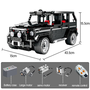 Remote Control Cross Country SUV Car AWD Vehicle Building Blocks Toy 1388 pcs